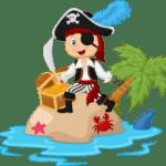 pirates swimming lesson