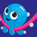 Baby Squid playing on woggle