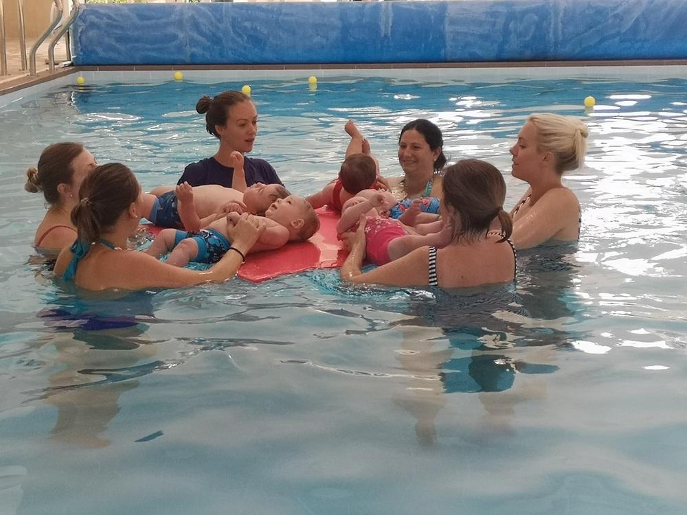 singing in swim class